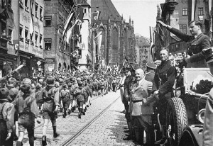 NSDAP-Parteitag Nürnberg 1933 mit Julius Streicher und Baldur von Schirach