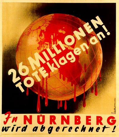 Plakat von 1945; Künstler: Schubert-Hellerau