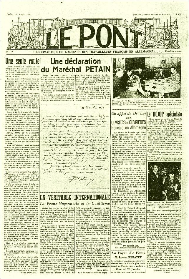 Die erste Lagerzeitung gab es für französische 1941 Fremdarbeiter
