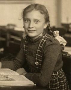 Ingeborg Heise als Schülerin
