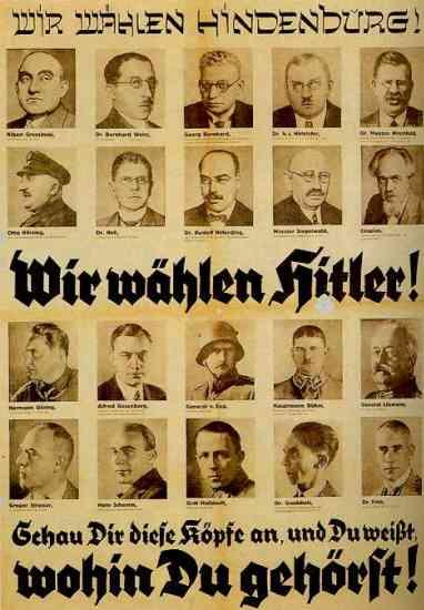 NSDAP-Wahlplakat mit antisemitischer Aussage 1932