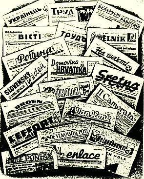 Es gab insgesamt 42 Zeitungen für Fremdarbeiter