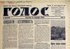 NS-Propaganda-Zeitung für serbische Fremdarbeiter 1943