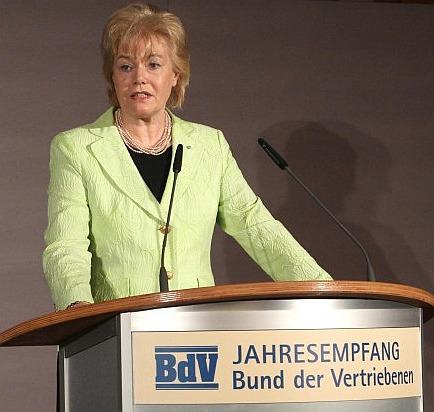 Die Präsidentin des Vertriebenenbundes, Erika Steinbach, hat die neue Studie in Auftrag gegeben. Foto: Wolfgang Kumm, dpa