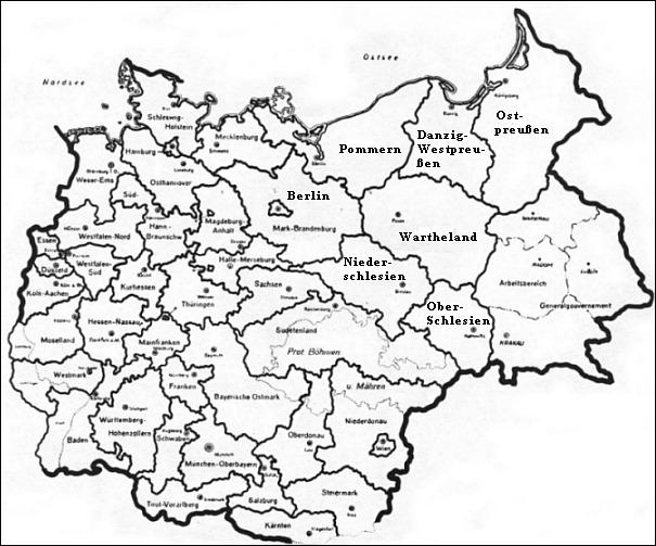 Gaukarte des Reiches 1941