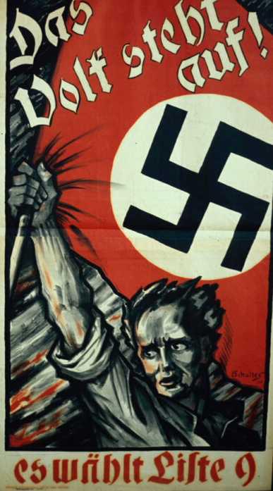 Wahlplakat der NSDAP vor 1933