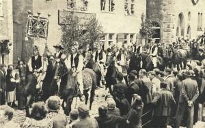 Siebenbürger beim Festumzug in Rothenburg 1949