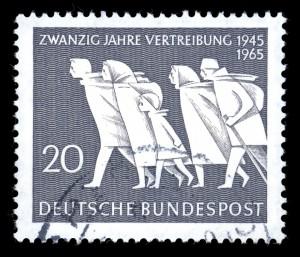 Briefmarke erinnerte 1965  an die Heimatvertriebenen