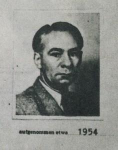 Carl-Theodor Schütz; Foto aus der geheimen Personalakte des Bundesnachrichtendienstes (BND); Repro: SZ