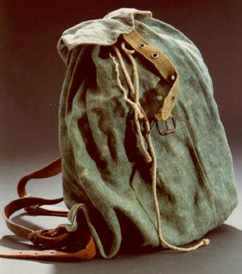 Original Hamsterrucksack, verwendet zwischen 1946 und 1948
