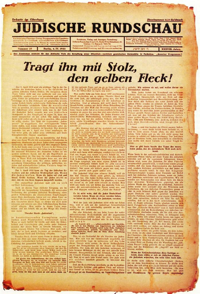 Judenstern-jüd. Zeitung