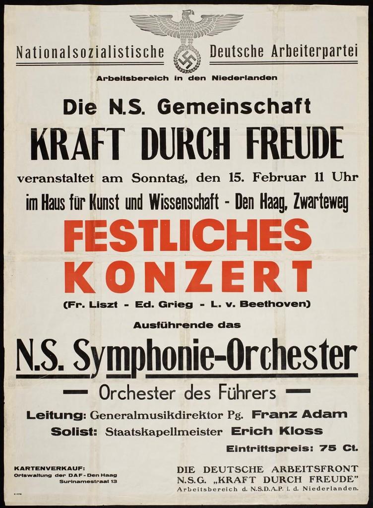Einladung zum KdF-Konzert im besetzten Amsterdam 1940