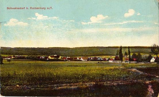 Schweinsdorf in einer alten Ansicht