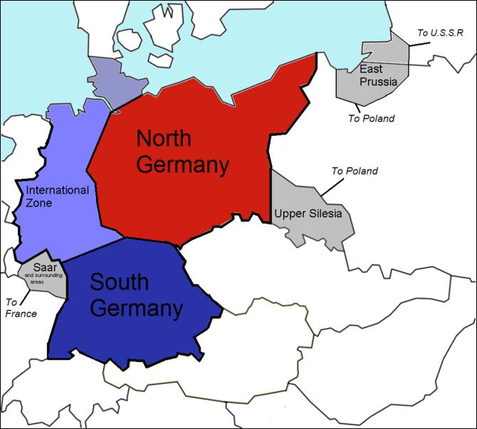 Plan der Zerlegung Deutschlands