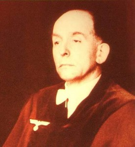 Präsident des Volksgerichtshofes Roland Freisler