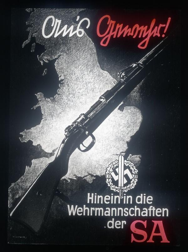 Werbeplakat der SA in Bayern 1933
