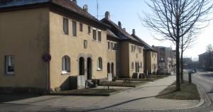 Ludwig-Siebert-Straße in Rothenburg ob der Tauber; 1919 entstandener sozialer Wohnungsbau