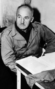 Julius Streicher 1946 in der Nürnberger Gefängniszelle