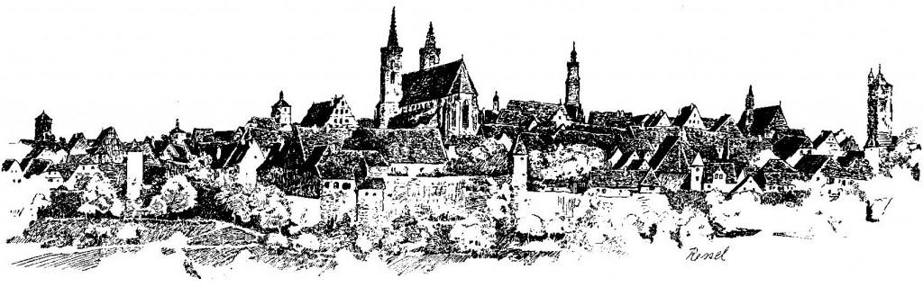 Tourismus im Kriege oben-Zeichnung-Rissel
