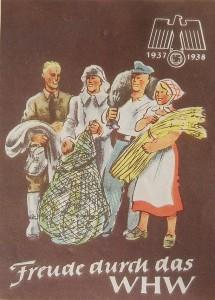 Volk-WHW-Plakat braun bauern 1937