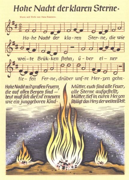 Ein eigens gedichtetes NS-Weihnachtslied
