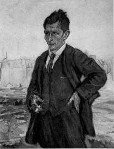 Karl Bröger 1933, Zeichnung von C. Stahl