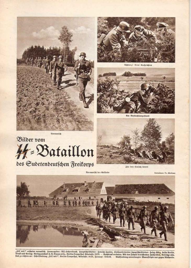 Eine Ausgabe von 1938; Schulkinder werden auf den Krieg vorbereitet