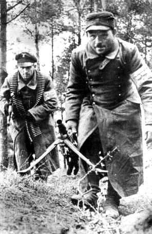Volkssturm im Einsatz an der Oderfront 1945