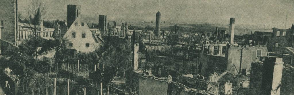 Neugasse mit Blick auf den Faulturm und den Röderturm im Hintergrund