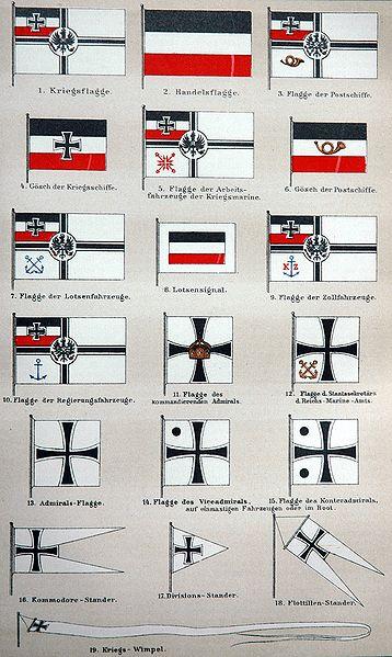 Flaggen des deutschen Kaiserreichs