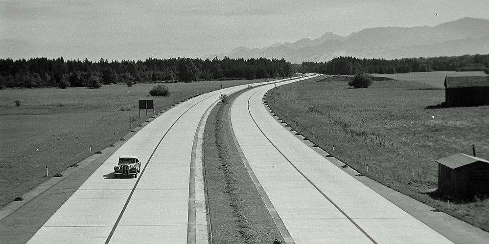 Reichsautobahn 1937 München-Salzburg