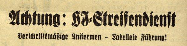 Ausriss aus der Zeitung 1935