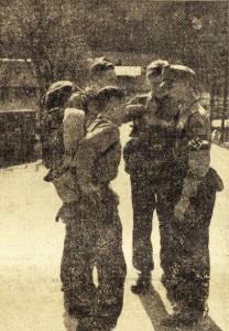 Streifendienst kontrolliert (Foto aus Völkischem Beobachter; Stadtmuseum Köln)