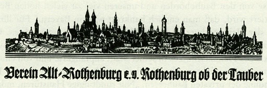 Briefkopf des Vereins Alt-Rothenburg