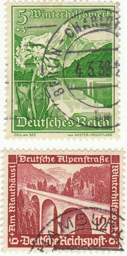 WHW-Briefmarken 1936
