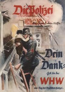 Werbeplakat der Feuer-Polizei 1938 für Spenden