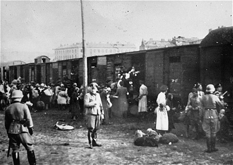 Die Gestapo begleitete die Todeszüge in den Osten in den Osten