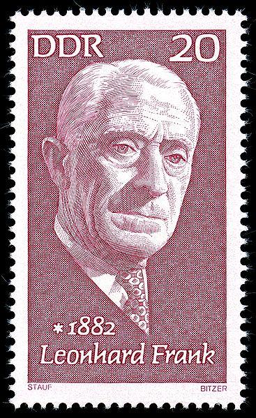 Leonhard Frank 1972 auf einer DDR-Briefmarke