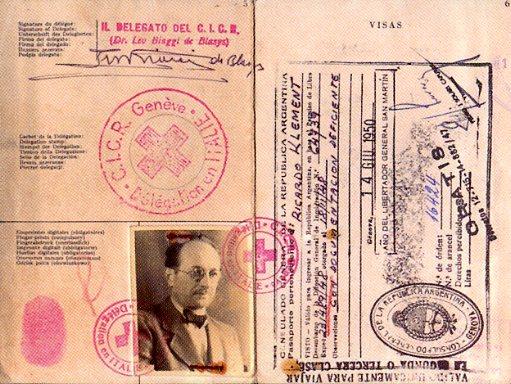 Der gefälschte Eichmann-Pass auf den Namen Klement
