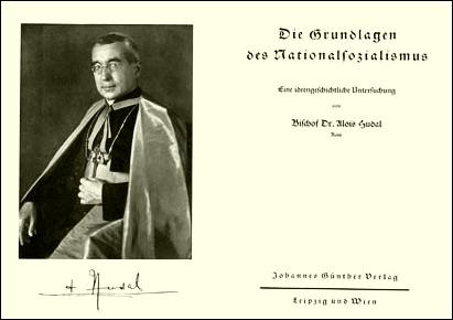 Innentitel des Hudal-Buches - eine Schrift des Bischofs für den Nationalsozialismus 1936