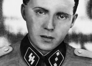 """Der """"Todesengel"""" KZ-Arzt Josef Mengele (Zeichnung)"""