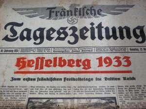 """""""Fränkische Tageszeitung"""" von 1933"""
