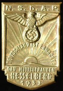 """Hesselberg-Medaille """"Deutschland ist erwacht"""""""