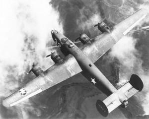 Jakobskirche-FlugzeugBombardierung-B-24 Liberator