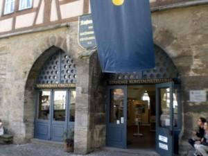 Das Domizil des Rothenburger Künstlerbundes am Marktplatz