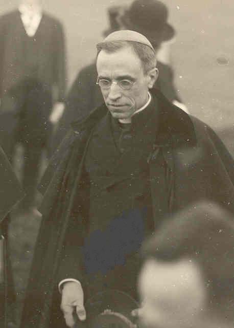 Die Schlüsselfigur der Konkordatsverhandlungen, Nuntius Eugenio Pacelli, der später Papst Pius XII. wurde.