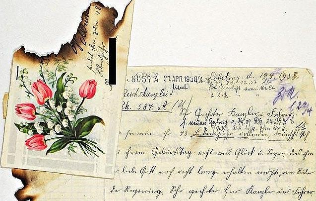 Eine von vielen tausend Liebesbriefen, die in der Reichskanzlei aufgefunden wurden