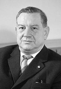 Ministerpräsident Alfons Goppel (CSU) 1962