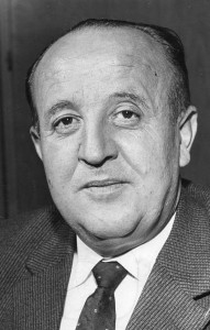 Bundesminister Hermann Höcherl (CSU) 1961