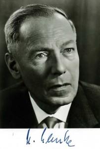 Ministerpräsident Georg Lemke (CDU) 1967